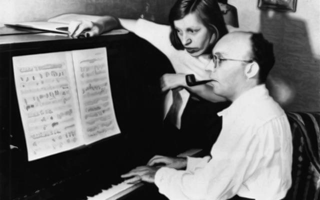 Kurt Weill and Lenya