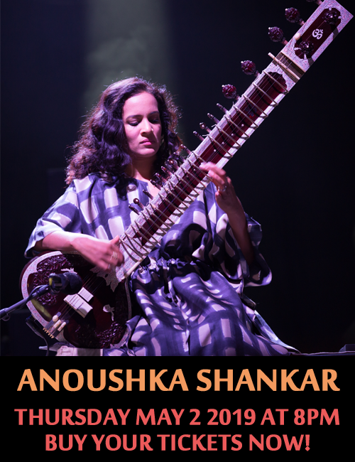 Anoushka Shankar at Koerner Hall - May 2 2019 at 8 PM