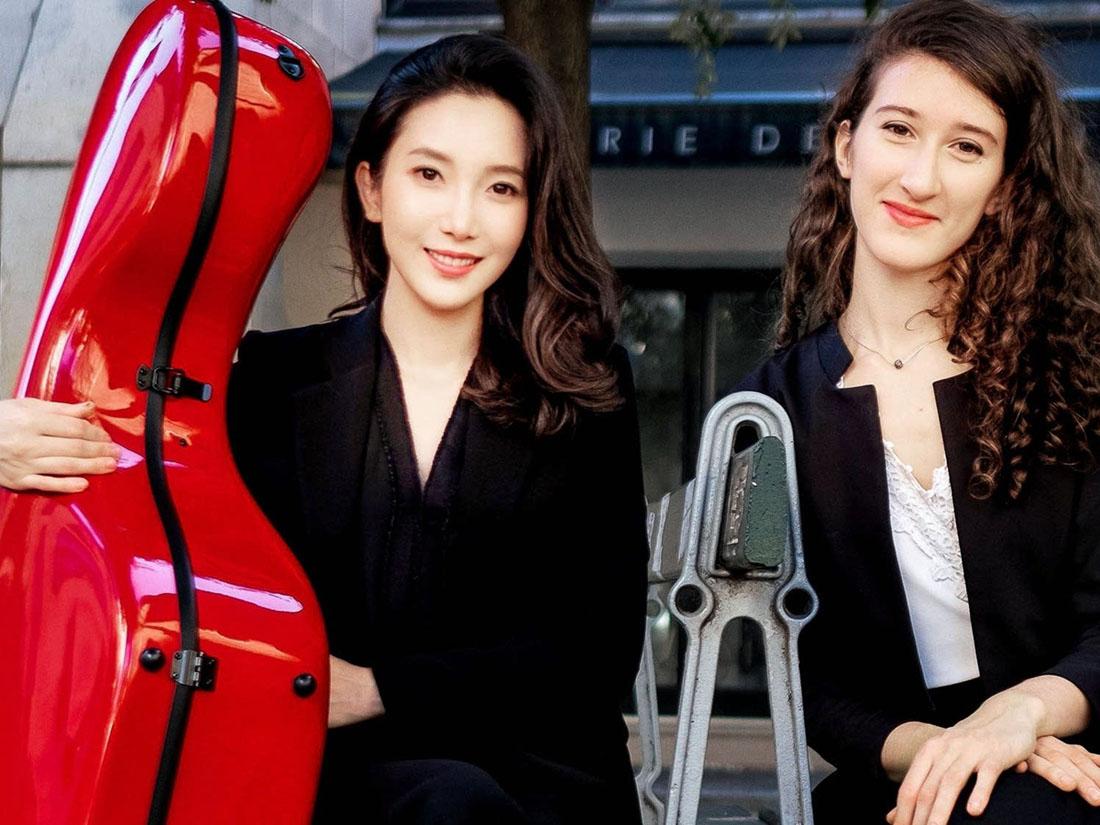 With pianist Nathalia Milstein
