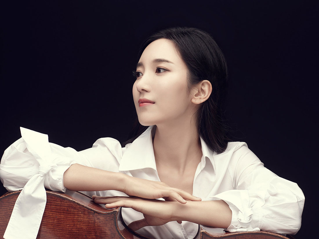 Hee-Young Lim with cello lying down
